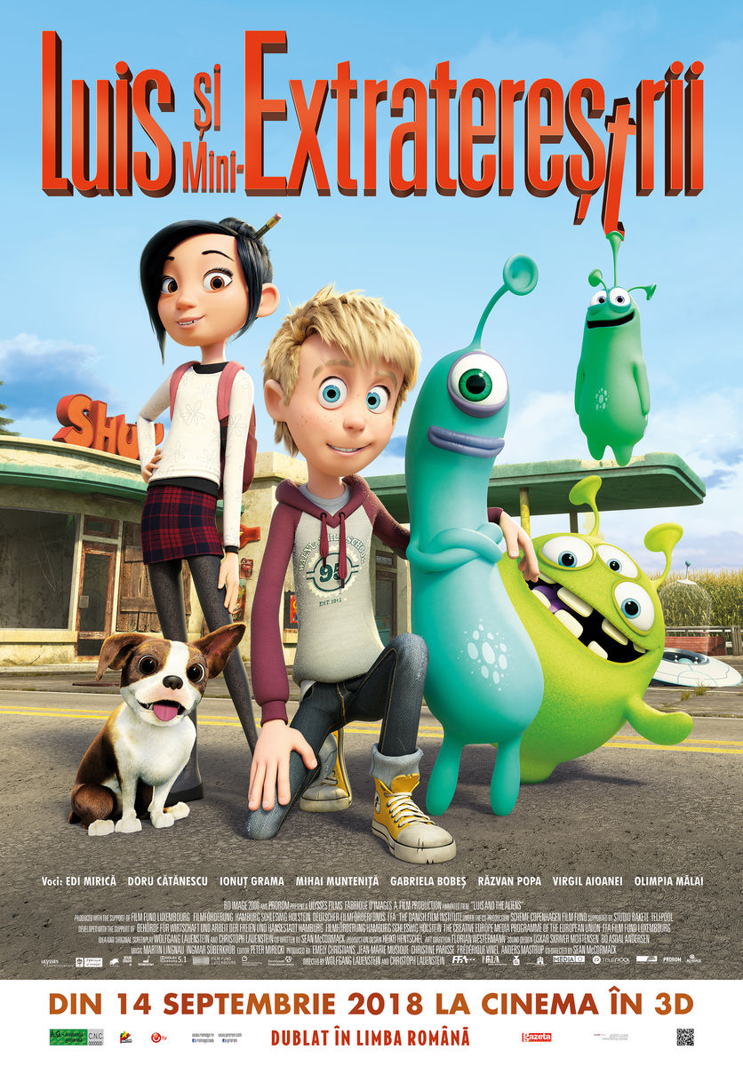 movie poster with characters from Luis and the Aliens