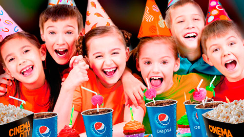 Picture of children celebrating in Cinema City