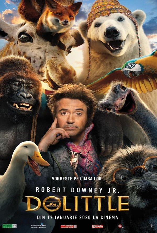 Film Dolittle 3D Dublat la Arena Mall Bacau in data de 28-01-2020