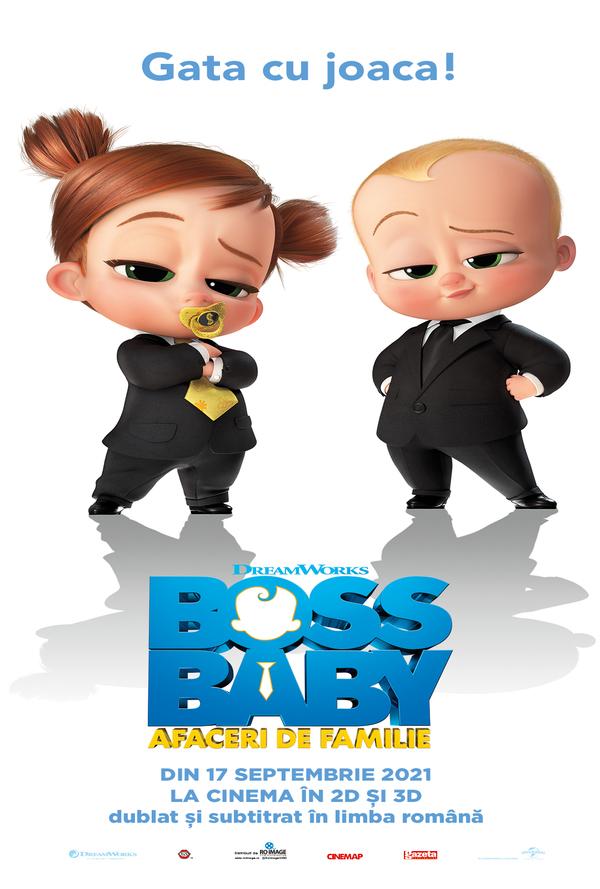 Film Boss Baby: Afaceri de familie 3D DUB la Arena Mall Bacau in data de 19-10-2021