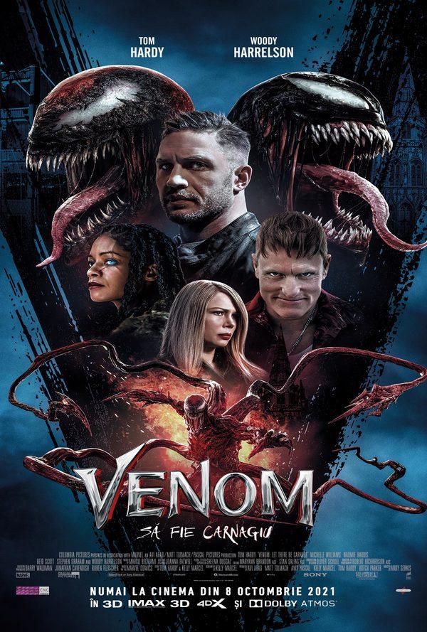 Film Venom: Sa fie carnagiu 3D la Arena Mall Bacau in data de 19-10-2021