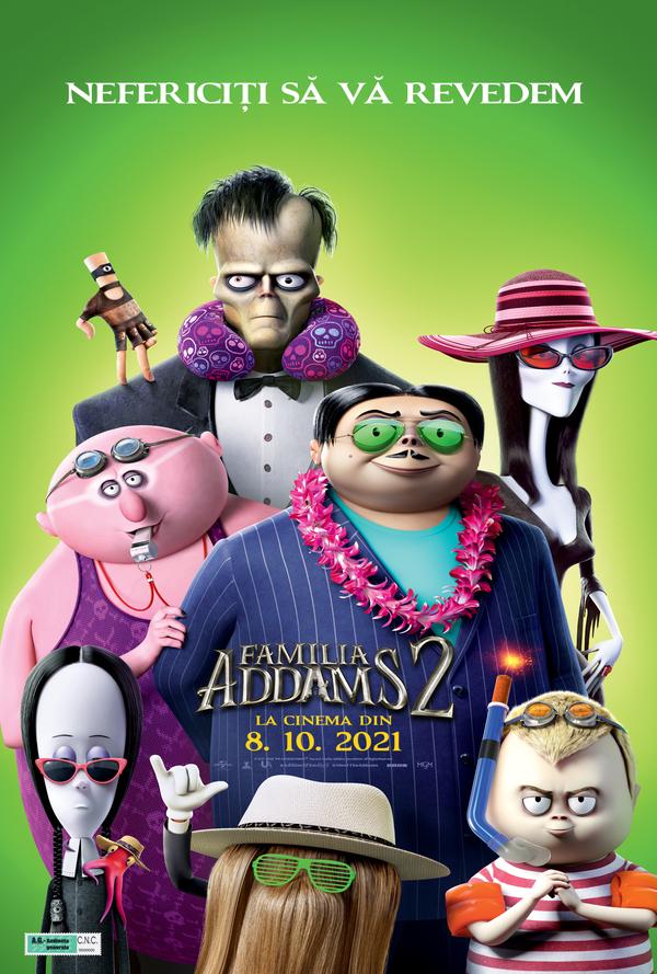 Film Familia Addams 2 2D la Arena Mall Bacau in data de 19-10-2021